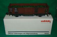 MARKLIN 1 grand modèle wagon plat , offener Güterwagen 58203 + boite OVP