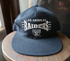 Vintage 90s Los Angeles Raiders Logo Athletic TEAM NFL SnapBack Hat Cap NWA RARE