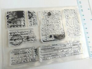 Clear silicone  Stamp Scrapbooking Album Card making embelishments DlY