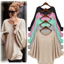 New Womens Warm Winter Loose Batwing Sleeve Sweater Long Sleeve Knitwear Jumper