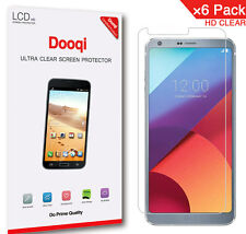 6X Dooqi Hd Clear Lcd Screen Protector Shield Cover For Lg G6 Plus