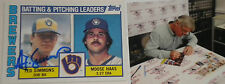 Ted Simmons Milwaukee Brewers Signed Autographed 1984 Topps Team Card