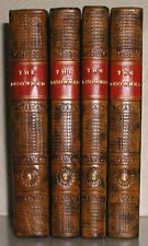 1829 SIR BULWER LYTTON THE DISOWNED FULL LEATHER BINDINGS 4 VOLUME SET FIRST ED