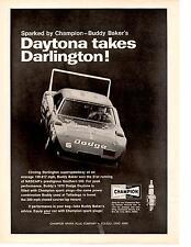 1969-1970 DODGE CHARGER DAYTONA ~ BUDDY BAKER AT SOUTHERN 500  ~  RARE  AD