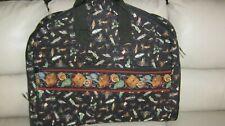VERA BRADLEY Rare Black FISHING LURES Garment Travel Bag Luggage 24 x 41 EUC