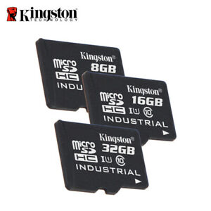 Kingston Industrial version 8GB 16GB 32GB microSDHC Class 10 UHS-I with Adapter