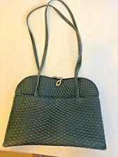 Bally Quilted Dark Navy Blue Dome Shape Shoulder Bag Gold Hardware VintageRare