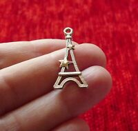 10Pcs Eiffel Tower Star Charms for Bracelet Pendant Necklace Findings Supplies