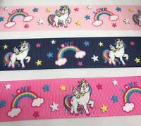 "Unicorn Pegasus Grosgrain Ribbon 75mm 38mm 3/"" 1.5/"" Buy 4 get 5th Free"