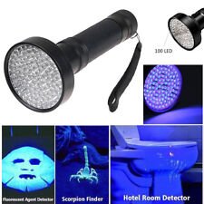 100 LED 395 nM UV Ultra Violet Flashlight Blacklight Torch Light Lamp Aluminum