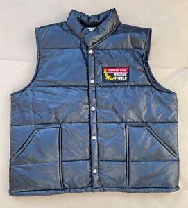 Vintage XL Very Rare Centerline Racing Wheels Puffer Vest Jacket Centerline Drag