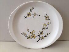 "Marcrest Stetson Dixie Dogwood Serving Platter Plate 10"" Yellow Flower"