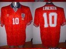 Camiseta Jersey Inglaterra XL Vintage Lineker 1992 Umbro Fútbol Balonpié Camiseta Top