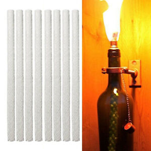 12X Tiki Torch Wick Light Long Life Fiberglass Replacement Oil Lamp Candle Acc