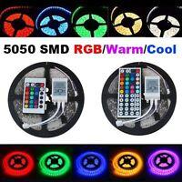 5 METRI STRISCIA A LED SMD 5050 300LED STRIP LIGHT LUCE RGB Bianco caldo/freddo