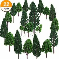22 Pieces Model Trees 3 - 16 cm Mixed Model Tree Train Trees Railroad Scenery Di