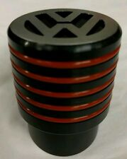 VW T5 T6 Gear Shift Knob Ribbed Black & Red Sportline