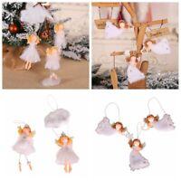 Perpendiculaire Angel girl Décoration de Noël Poupée en peluche Pendentif