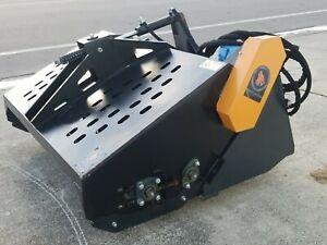 """NEW 72"""" Skidsteer Hydraulic Landscape Rake Attachment Soil Conditioner Rockhound"""