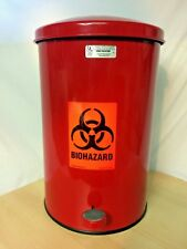 United Receptacle ST35E 3.5-Gallon Round Step The Defenders Steel Trash Can