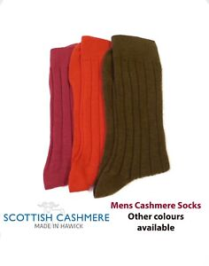 Mens Cashmere Socks - Knitted in Hawick, Scotland