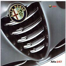 ALFA ROMEO 147 accessori 2001 UK Opuscolo Vendite sul mercato