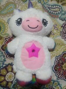 Ontel Star Belly Dream Lites Stuffed Night Light Rainbow WHITE Unicorn Plush