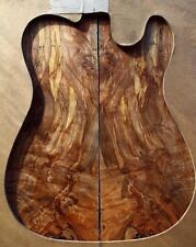 "gorgeous .26"" 5A curly quilted ambrosia spalted maple guitar bass drop top 427"