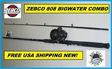ZEBCO 808 Spin Cast Combo -7 Foot 2PC Fishing Combo Rod and Reel NEW! #808H702MH