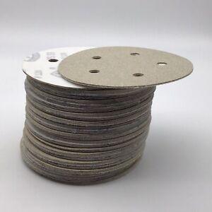 """Klingspor Sandpaper  5"""" 5 Hole, Hook & Loop (kling on), Sanding Discs, 80 Grit"""