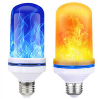 LED Flame Light Christmas Atmosphere Bulbs 4 Modes Bright Dynamic Flames Lights