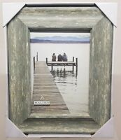Malden Weathered Teal Standing Picture Wood Frame 5x7 Photo Sz Glass Cover A092