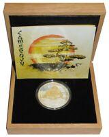 Kamerun 1000 Francs Silbermünze Jahr des Drachen Polierte Platte Gilded 2012