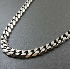 61cm Stainless Steel Necklace Silver Curb Link Cuban Chain 24 inch X 6mm N105 UK