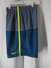 NIKE Swim Shorts Trunks Medium gray blue elastic waist NWT