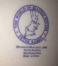 Beatrix Potter Peter Rabbit Collector Plate Fredric Warren & Co. 2002