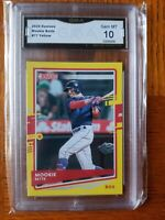 2020 Donruss Mookie Betts #77 GMA 10- Yellow Boston Red Sox Dodgers  🔥