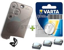 Renault Espace Laguna VelSatis 3 Tasten Schlüssel Karte Ersatz Gehäuse Batterie