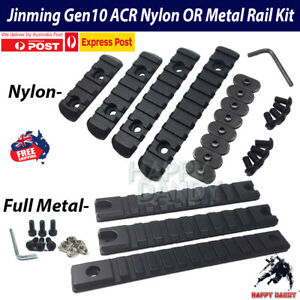 Metal and Nylon Rail Set Upgrade for JINMING Gen10 ACR Attachment Gel Blaster AU