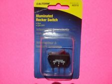CALTERM ILLUMINATED RED TOGGLE ROCKER SWITCH 20A 12V ON OFF 1/1/8 7/16 HOLE