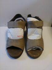 b3ba6e08268a Elites by Walking Cradles Women s Tan Leather Strap Comfort Sandal 13W