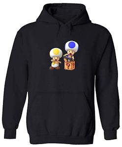 Pullover Sweatshirt Hoodie Sweater Gift Super Mario Toad Wii U Switch Gamer