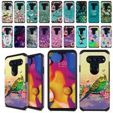 "For LG V40 ThinQ 6.4"" Design Hybrid Bumper Protective Hard TPU Case Phone Cover"