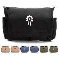0396b9fa6c5f7c World of Warcraft Horde Army Heavyweight Canvas Messenger Shoulder Bag
