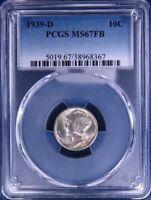 1939-D Mercury Dime PCGS MS67FB LF0271C/BNQ