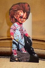 """Chucky Damaged """"Child's Play"""" Horror Movie Tabletop Display Standee 10"""" Tall"""