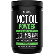 Polvo de aceite de investigación deportivos MCT Suplemento Dietético - 30 porciones-Sin sabor