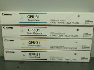 New Genuine CANON GPR-31 Color Toner Set