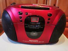 Tamashi Stereo CD Radio Cassette Recorder Rot kompakt tragbar Kassette