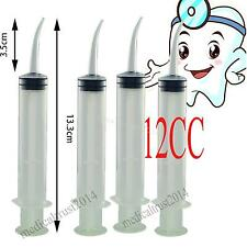 Pets Feed Endodontic Disposable Dental ORAL Impression Syringe 12CC Curved Tip